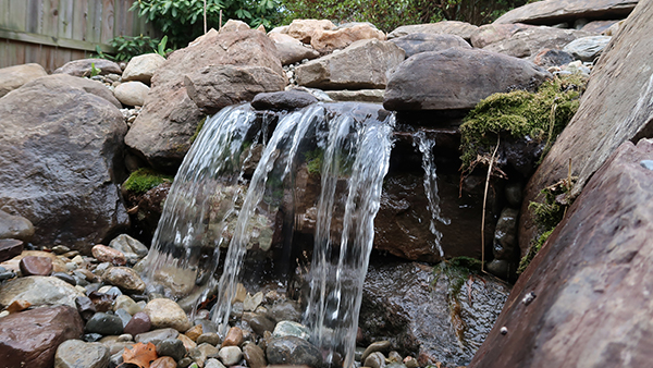 Close Up of Waterfall and Stream