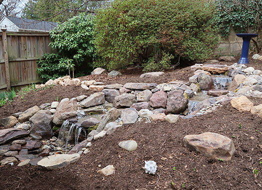 After Pondless Waterfall Installation is Complete